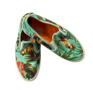 NEW Vans Canvas Slip Ons 5.5 Tropical Parrot Palm